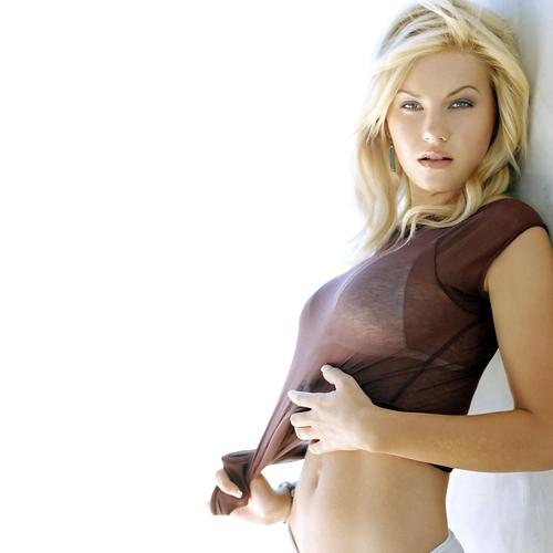 Elisha Cuthbert in see through shirt wallpaper