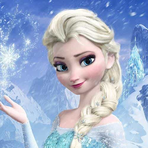 elsa frozen queen illust film disney art