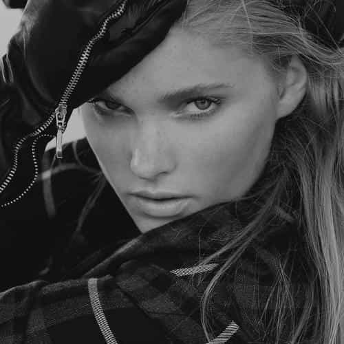 elsa hosk model pose sexy dark bw girl art