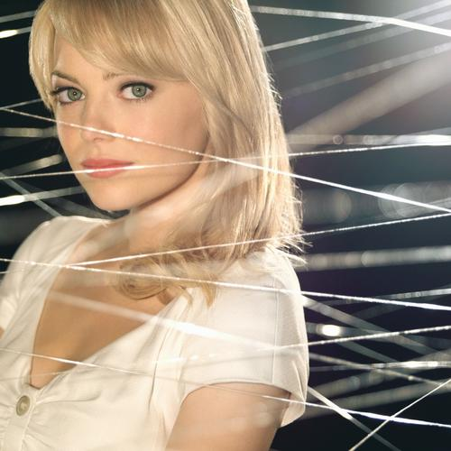 Emma Stone in spider web