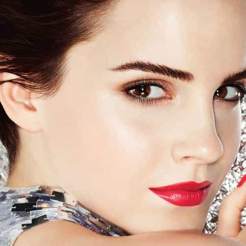 emma watson face red sexy cute