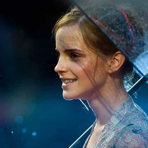 emma watson in rain girl film face