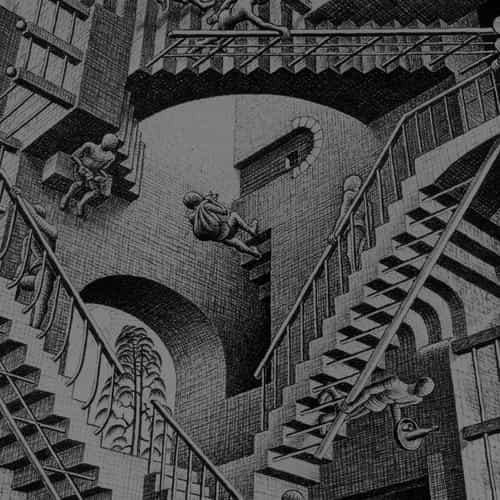 escher art drawing illust