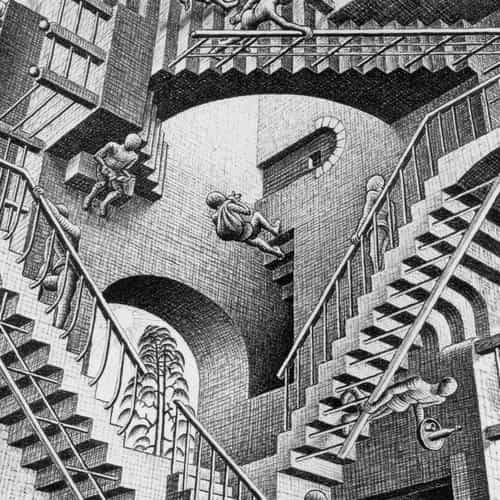 escher art infinite illust classic