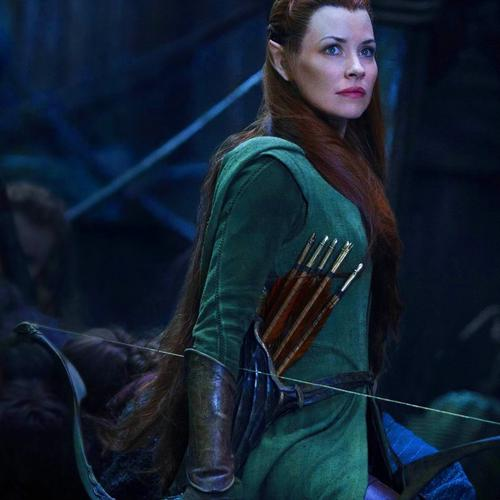 Evangeline Lilly In The Hobbit behang