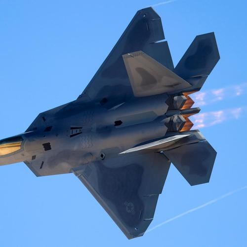 F-22 Raptor At Nellis Afb