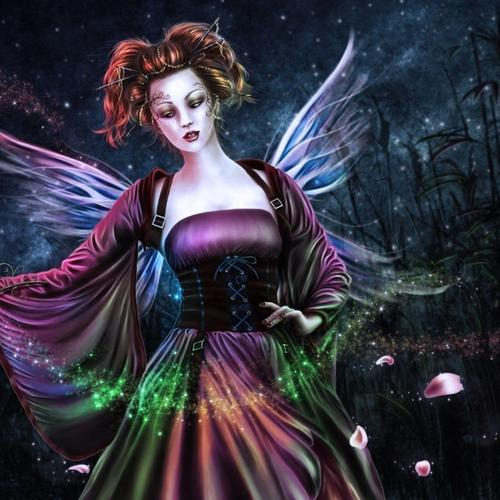Fairy lady 3D wallpaper