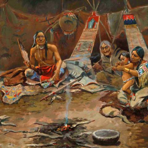 Herunterladen Familien-Indianer Hochwertige Tapeten