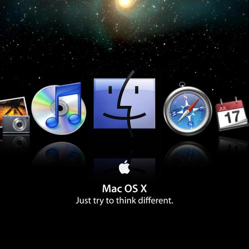 Famous icon in Mac OS wallpaper