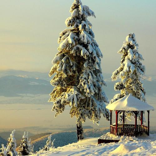 Fantastic Mountain View В Winter тапети