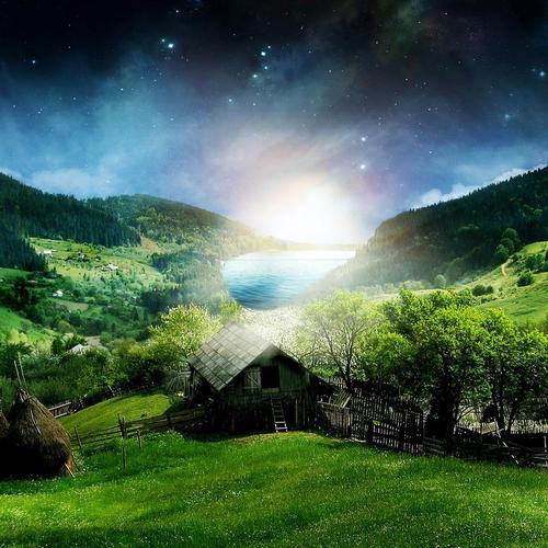 Download Fantasy countryside High quality wallpaper