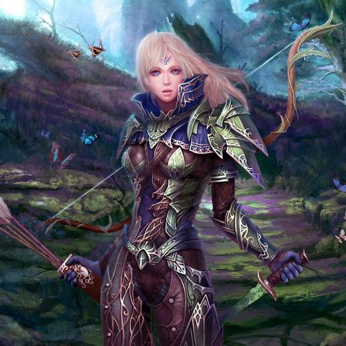 Fantasy female archer warrior wallpaper