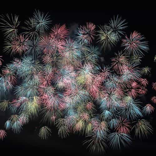 firework art pastel night dark