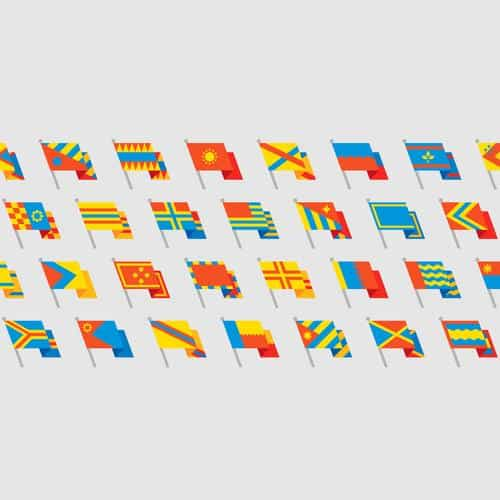 flags art simple cute illustration