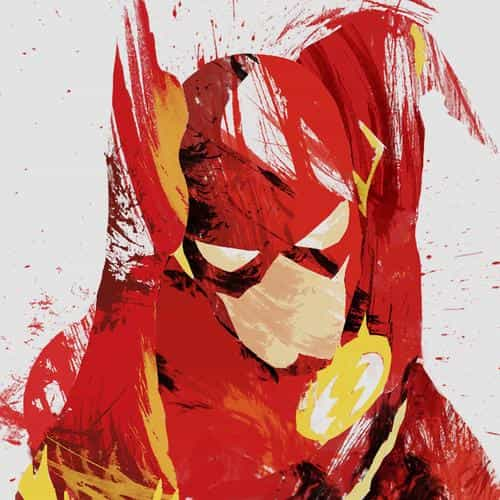 flash speed hero illust minimal art