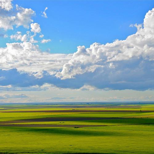 Flat landscape wallpaper
