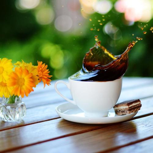 Flower and coffee for breakfast wallpaper