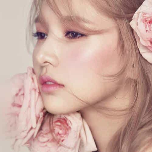 flower pink kpop girl