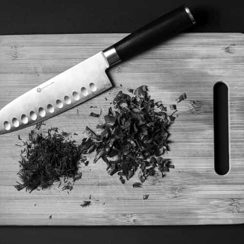 food knife green kitchen city life bw dark