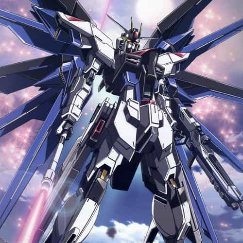 freedom gundam art illustration anime