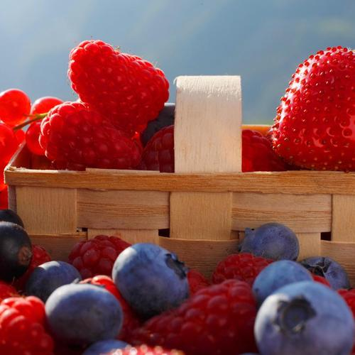 Fresh Berries In Basket wallpaper