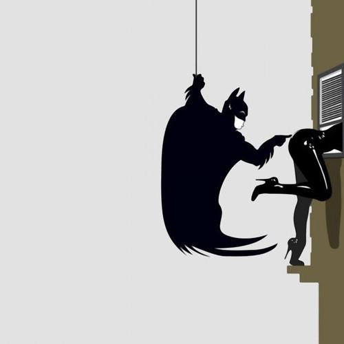 Funny Batman And Catwoman wallpaper