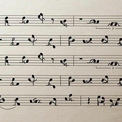 Download Funny Music Notes High quality wallpaper