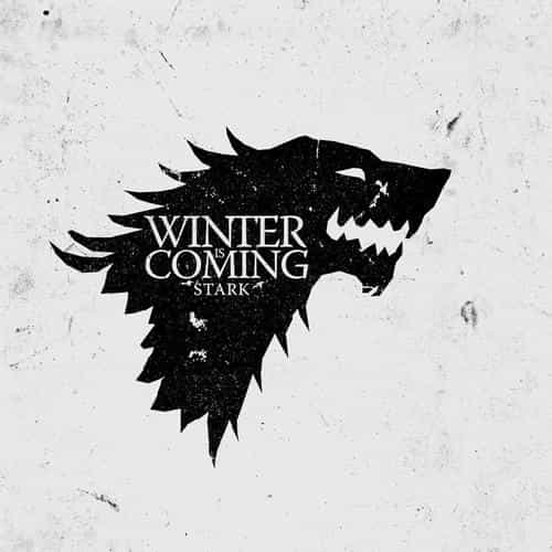 game of thrones winter is coming white