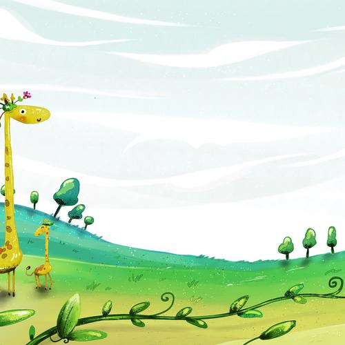 Giraffes illustration wallpaper