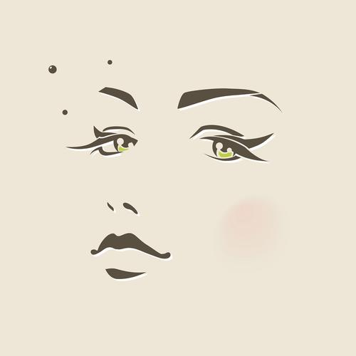 girl face illust art minimal