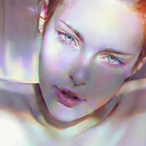 girl face sexy paint anime illustration art yanjun cheng