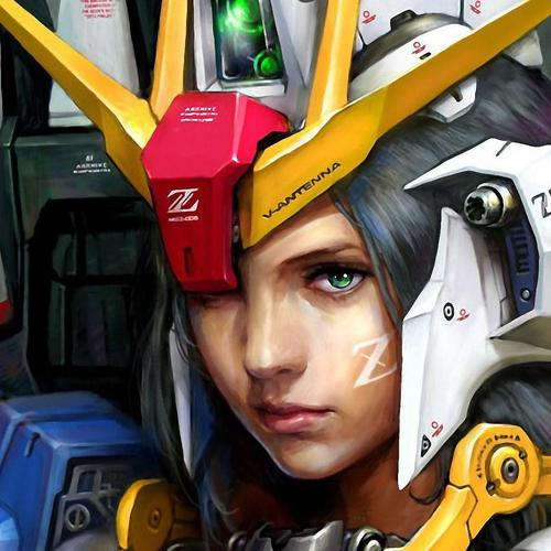 Girl in gundam suit wallpaper