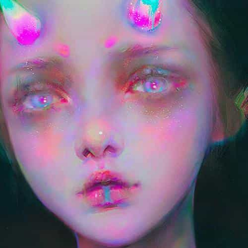 girl paint inner sin yanjun cheng illustration art
