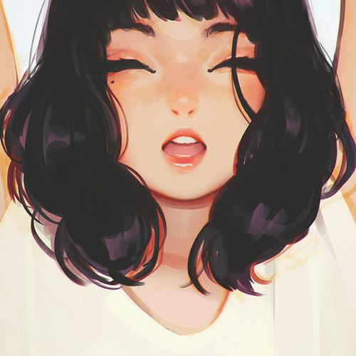 girl smile ilya kuvshinov illustration art