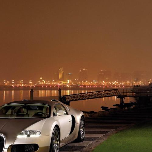 Gold Bugatti Veyron By The River wallpaper