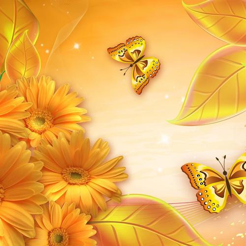 Golden butterfly wallpaper
