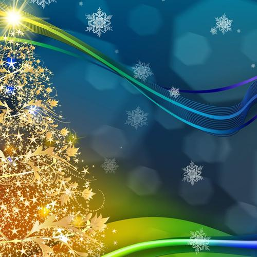 Download Golden Christmas tree so bright High quality wallpaper