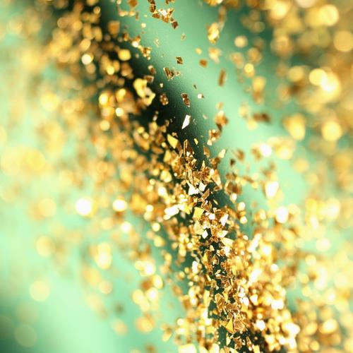 Golden glitter wallpaper