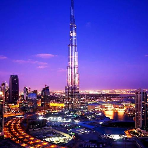 Gorgeous Burj Khalifa in night wallpaper