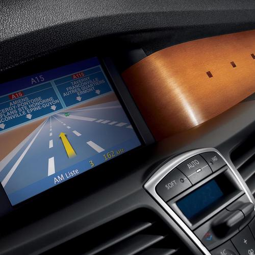Gps navigation on car wallpaper