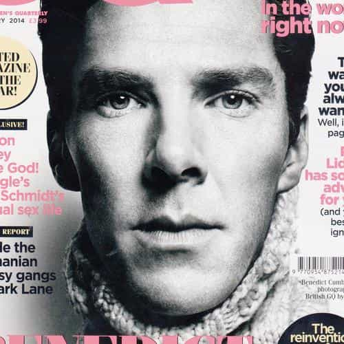gq benedict cumberbatch face film