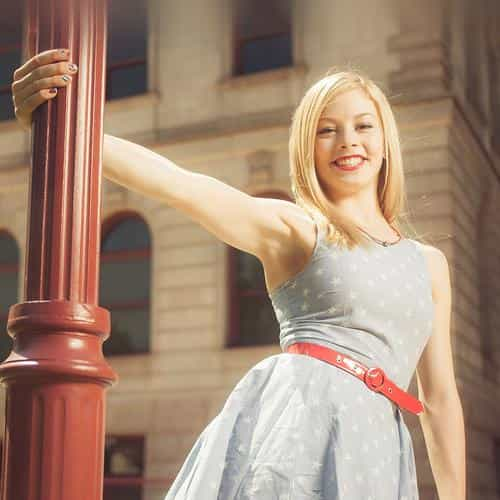 gracie gold street sports girl face