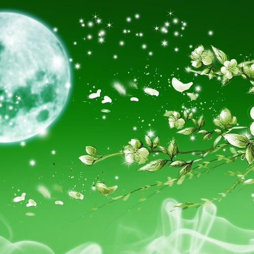 Green apple blossoms wallpaper