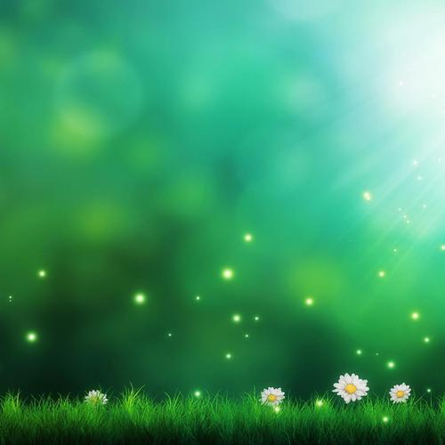 Green fields sparkling wallpaper