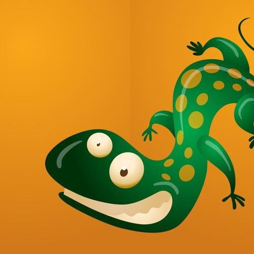Green gecko wallpaper