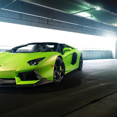Green Lamborghini wallpaper