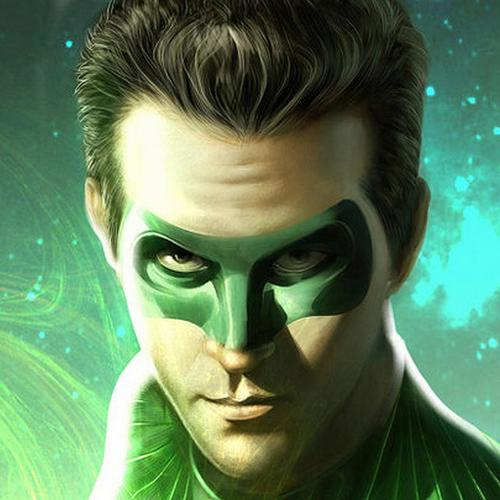 Green Lantern portret behang