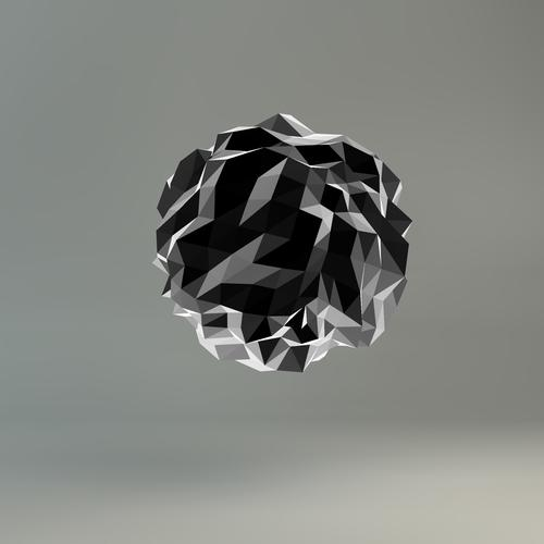 Grey abstract glass ball