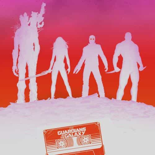 guardians of the galaxy red poster film art illust