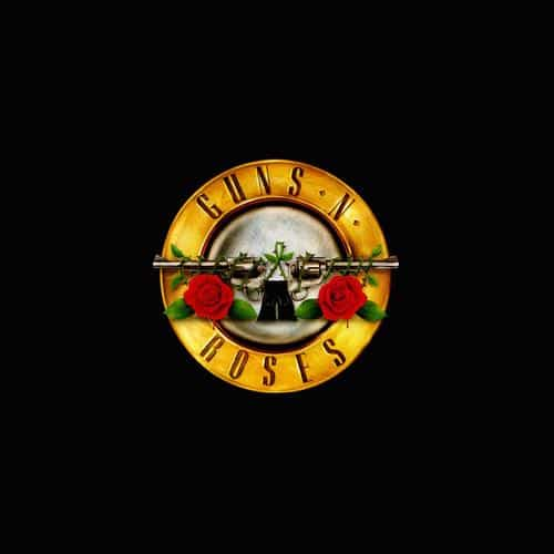 guns n roses logo music dark
